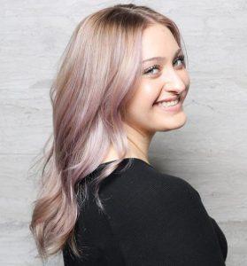 Purple-Painted Blonde